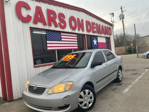 2008 Toyota Corolla for sale at Cars On Demand 2 in Pasadena TX