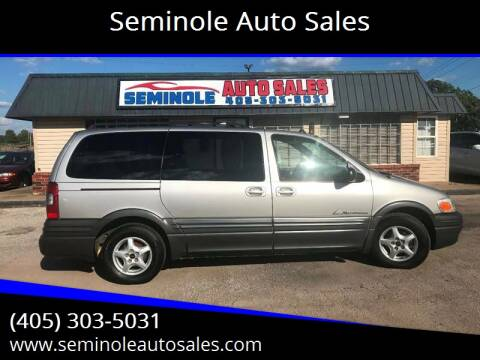 2005 Pontiac Montana for sale at Seminole Auto Sales in Seminole OK
