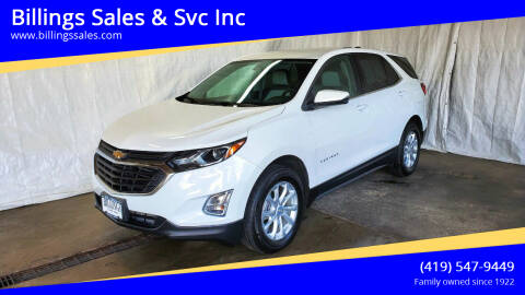 2018 Chevrolet Equinox for sale at Billings Sales & Svc Inc in Clyde OH
