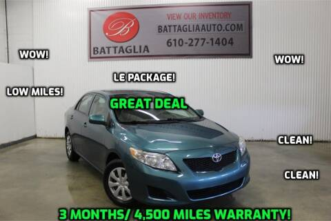 2010 Toyota Corolla for sale at Battaglia Auto Sales in Plymouth Meeting PA