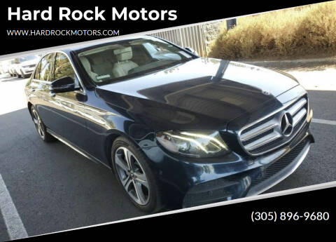 2017 Mercedes-Benz E-Class for sale at Hard Rock Motors in Hollywood FL