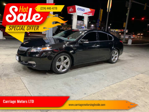 2012 Acura TL for sale at Carriage Motors LTD in Ingleside IL