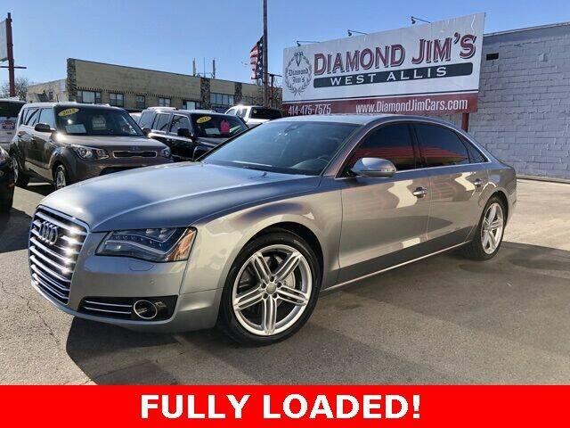 2013 Audi A8 L for sale at Diamond Jim's West Allis in West Allis WI