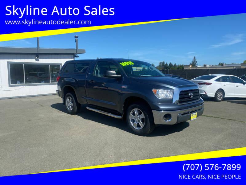 2008 Toyota Tundra for sale at Skyline Auto Sales in Santa Rosa CA