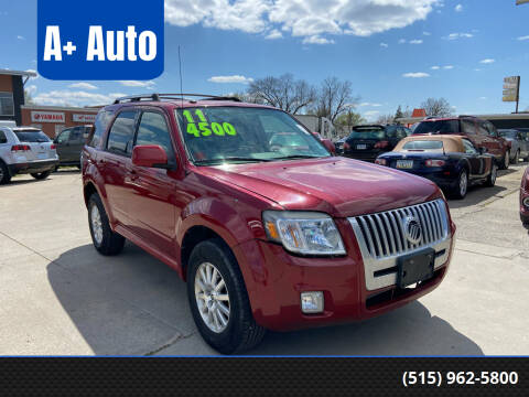 2011 Mercury Mariner for sale at A+ Auto in Indianola IA