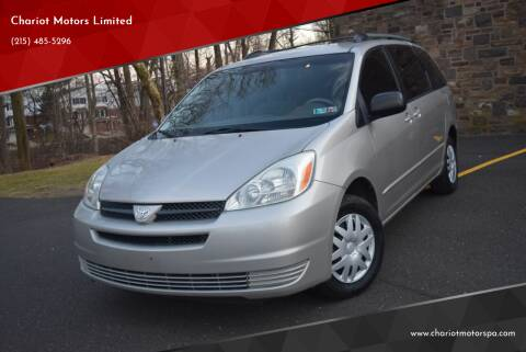 2004 Toyota Sienna for sale at Chariot Motors Limited in Feasterville Trevose PA