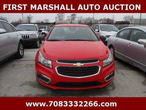 2016 Chevrolet Cruze Limited for sale at First Marshall Auto Auction in Harvey IL