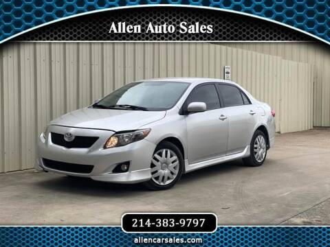 2009 Toyota Corolla for sale at Allen Auto Sales in Dallas TX