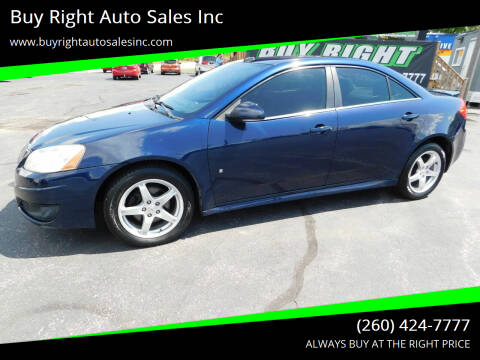 2009 Pontiac G6 for sale at Buy Right Auto Sales Inc in Fort Wayne IN