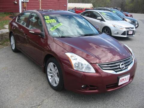 2010 Nissan Altima for sale at Joks Auto Sales & SVC INC in Hudson NH