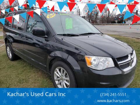2014 Dodge Grand Caravan for sale at Kachar's Used Cars Inc in Monroe MI