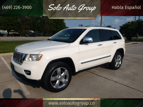 2012 Jeep Grand Cherokee for sale at Solo Auto Group in Mckinney TX