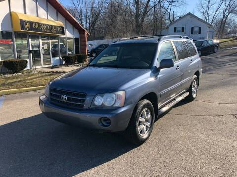 2003 Toyota Highlander for sale at Bronco Auto in Kalamazoo MI