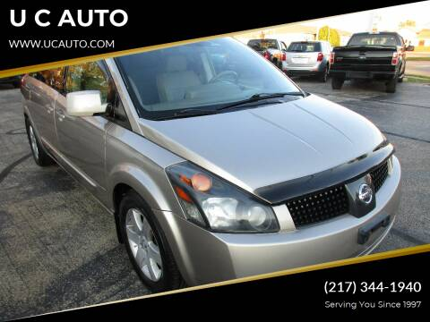 2005 Nissan Quest for sale at U C AUTO in Urbana IL