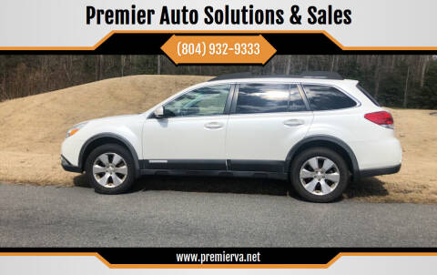 2011 Subaru Outback for sale at Premier Auto Solutions & Sales in Quinton VA