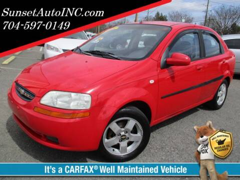 2006 Chevrolet Aveo for sale at Sunset Auto in Charlotte NC
