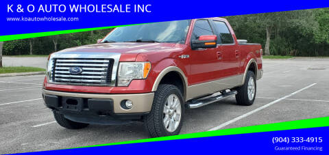 2011 Ford F-150 for sale at K & O AUTO WHOLESALE INC in Jacksonville FL