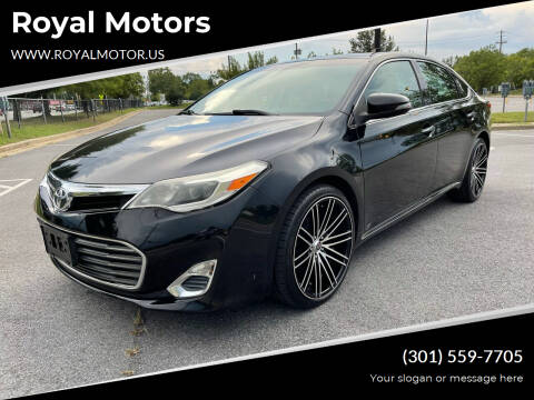 2013 Toyota Avalon for sale at Royal Motors in Hyattsville MD