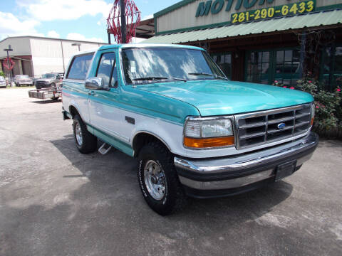 1995 Ford Bronco for sale at MOTION TREND AUTO SALES in Tomball TX
