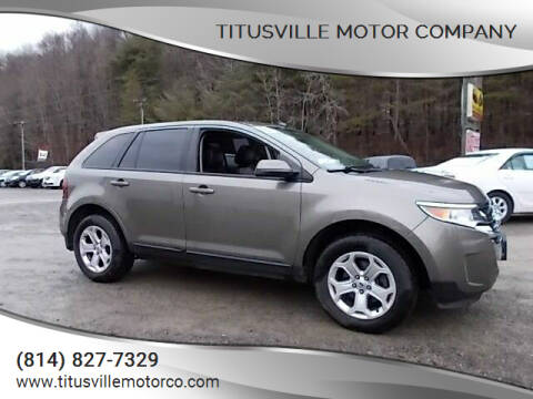 2013 Ford Edge for sale at Titusville Motor Company in Titusville PA