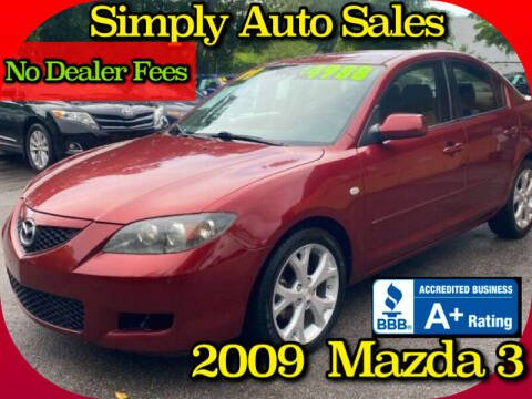 2009 Mazda MAZDA3 for sale at Simply Auto Sales in Palm Beach Gardens FL