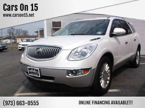 2012 Buick Enclave for sale at Cars On 15 in Lake Hopatcong NJ