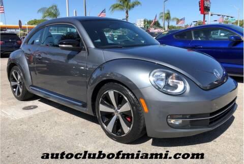 2012 Volkswagen Beetle for sale at AUTO CLUB OF MIAMI in Miami FL