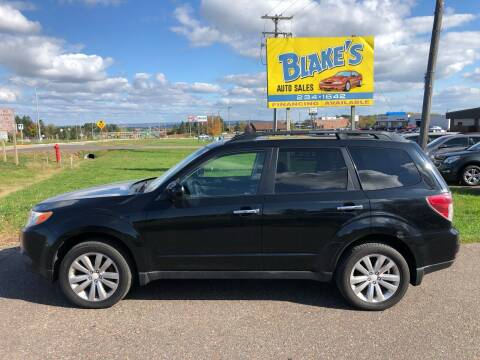 2011 Subaru Forester for sale at Blake's Auto Sales in Rice Lake WI