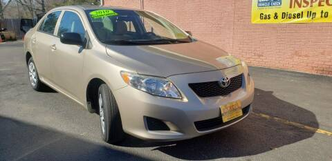 2010 Toyota Corolla for sale at Exxcel Auto Sales in Ashland MA