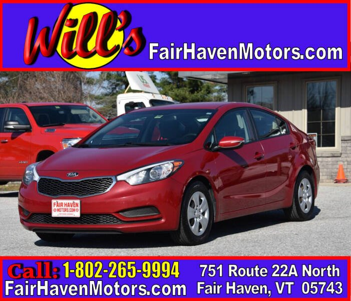 2015 Kia Forte for sale at Will's Fair Haven Motors in Fair Haven VT