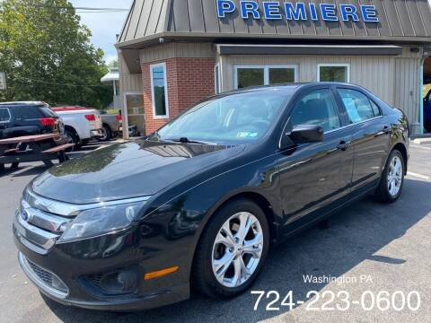 2012 Ford Fusion for sale at Premiere Auto Sales in Washington PA
