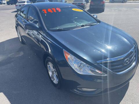 2013 Hyundai Sonata for sale at BELOW BOOK AUTO SALES in Idaho Falls ID