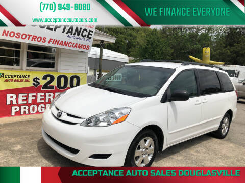 2010 Toyota Sienna for sale at Acceptance Auto Sales Douglasville in Douglasville GA