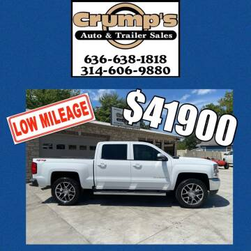 2018 Chevrolet Silverado 1500 for sale at CRUMP'S AUTO & TRAILER SALES in Crystal City MO