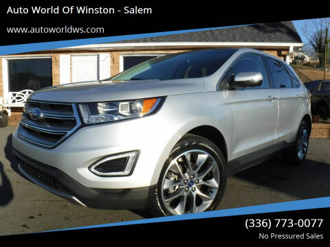 2017 Ford Edge for sale at Auto World Of Winston - Salem in Winston Salem NC