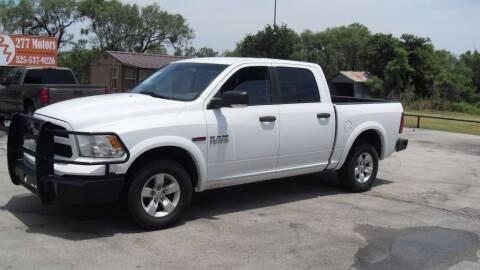 2015 RAM Ram Pickup 1500 for sale at 277 Motors in Hawley TX