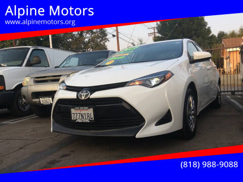 2017 Toyota Corolla for sale at Alpine Motors in Van Nuys CA