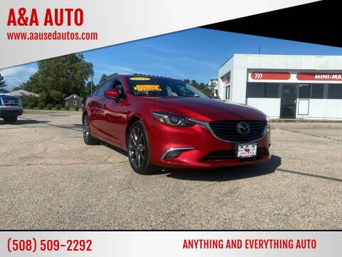 2017 Mazda MAZDA6 for sale at A&A AUTO in Fairhaven MA