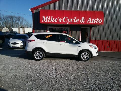 2014 Ford Escape for sale at MIKE'S CYCLE & AUTO in Connersville IN