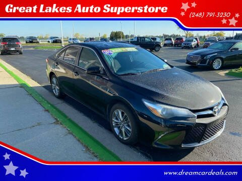 2016 Toyota Camry for sale at Great Lakes Auto Superstore in Waterford Township MI