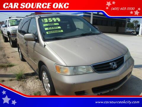 2002 Honda Odyssey for sale at CAR SOURCE OKC - CAR ONE in Oklahoma City OK