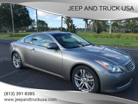 2008 Infiniti G37 for sale at Jeep and Truck USA in Tampa FL