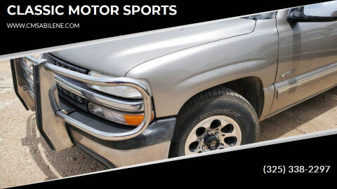 2000 Chevrolet C/K 1500 Series for sale at CLASSIC MOTOR SPORTS in Winters TX