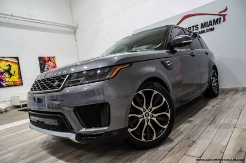 2018 Land Rover Range Rover Sport for sale at AUTO IMPORTS MIAMI in Fort Lauderdale FL