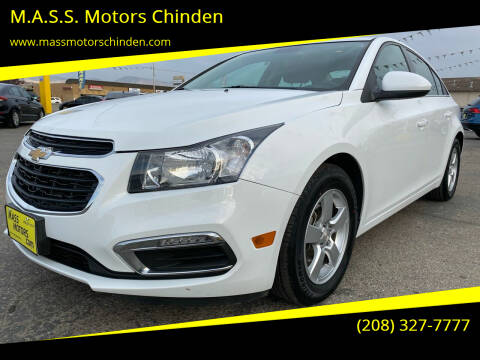 2015 Chevrolet Cruze for sale at M.A.S.S. Motors Chinden in Garden City ID
