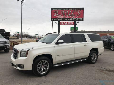 2015 GMC Yukon XL for sale at RAUL'S TRUCK & AUTO SALES, INC in Oklahoma City OK