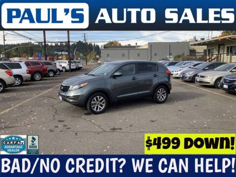 2014 Kia Sportage for sale at Paul's Auto Sales in Eugene OR