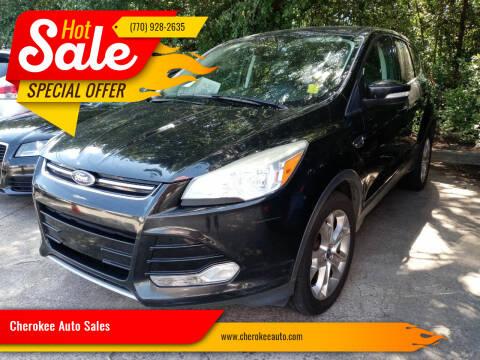 2013 Ford Escape for sale at Cherokee Auto Sales in Acworth GA