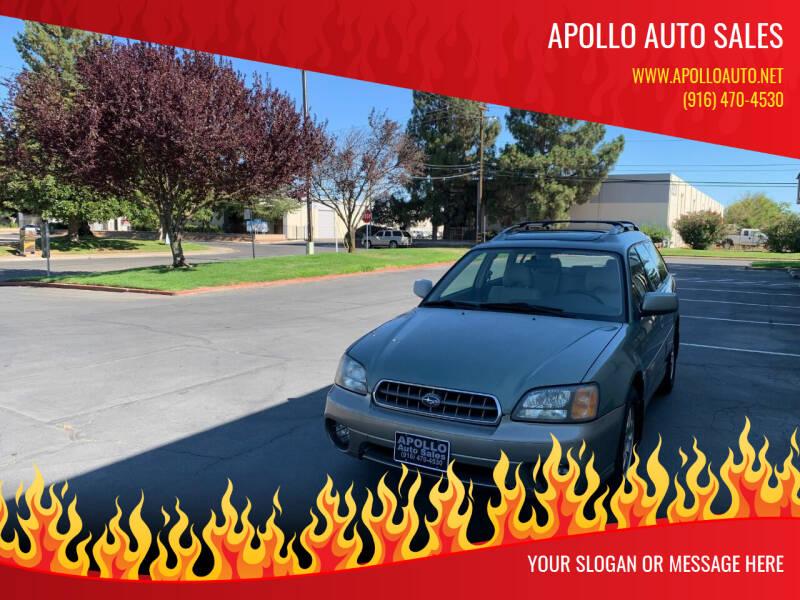 2003 Subaru Outback for sale at APOLLO AUTO SALES in Sacramento CA