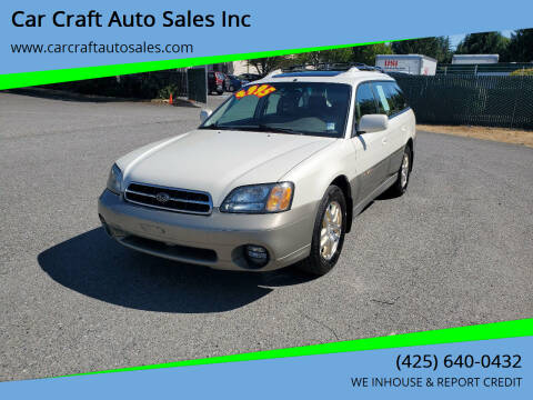 2002 Subaru Outback for sale at Car Craft Auto Sales Inc in Lynnwood WA